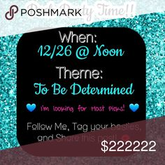 Posh Party Time!!! I'm cohosting my 2nd Posh Party the day after Christmas.... which means we have Christmas money to spend!!  Follow me, like this post for updates, tag your besties, and let's get some amazing hostpicks ready to party!!   xoxoxoxo Posh Party Other