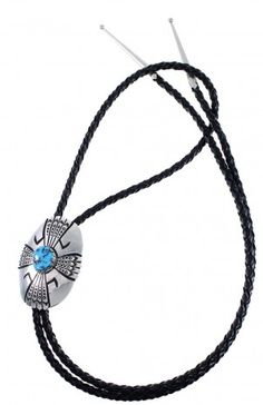 Turquoise American Indian Tommy And Rose Singer Sterling Silver Bolo Tie www.silvertribe.com