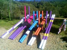 Jump Poles In Fashion Colors Horse Barn Amp Equestrian