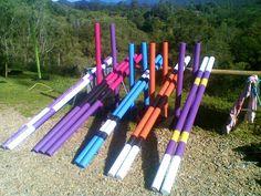 Jump Poles In Fashion Colors Horse Barn Amp Equestrian