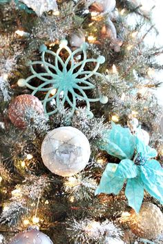 Frosty turquoise and