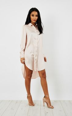 Embroidered Blossom Shirt Dress Product photo