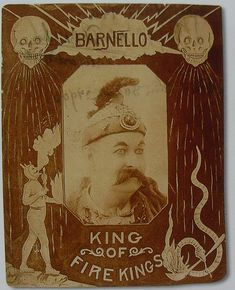 1912 BARNELLO The Human Volcano 1910s vintage CIRCUS Graphics Photo