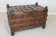 A truly stunning large dowry chest.  Recently acquired from a house clearance, this fantastic example of an early 19th century (or even earlier) walnut and steel bound dowry chest is in excellent condition for its age. - See more at: http://www.peppermillantiques.com/dowry-chest-early-19th-century/#sthash.Jp8WWkwr.dpuf