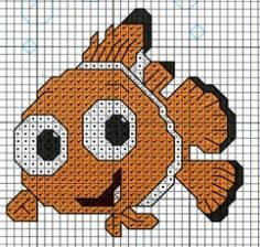 #disney finding #nemo #hama #perler #beads #pattern