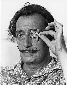 Catalan Surrealist artist Salvador Dalí by Catalan photographer Xavier Miserachs.