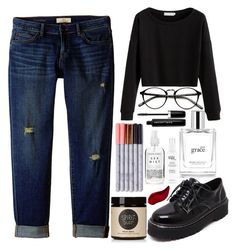 """Black & Denim"" by chaila-estrella ❤ liked on Polyvore featuring philosophy, WithChic, CJ by Cookie Johnson, Herbivore, Marc Jacobs, Moon Juice and Kat Von D"