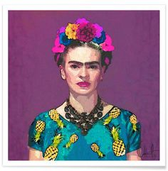 Trendy Frida Kahlo Premium Poster