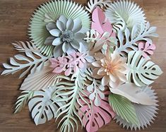 Items similar to Tropical Leaves, Pink Gold Tropical Backdrop, Hawaiian Party Decoration, Tropical Hawaiian Wedding Backdrop, Baby Shower Pink Backdrop on Etsy Tropical Party Decorations, Birthday Decorations, Paper Decorations, Luau Wedding, Wedding Dress, Large Paper Flowers, Giant Flowers, Moana Birthday, Paper Leaves