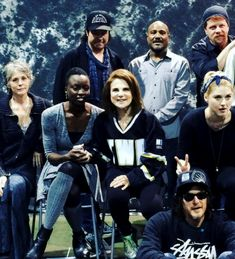 Tovah on Instagram ~ tovahfeld: Preparing for the cast photo season six at Atlanta Walker stalker convention. I love being with my TWD family!