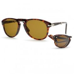 52a25771d19 Persol PO0714 Folding Polarized 24-57 Havana Unisex Sunglasses Folding  Sunglasses
