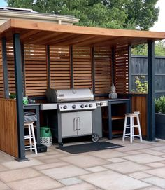 Outdoor Cooking Area, Outdoor Barbeque, Outdoor Kitchen Patio, Outdoor Kitchen Design, Covered Outdoor Kitchens, Backyard Patio Designs, Backyard Bbq, Bbq Shelter Ideas, Bbq Shed