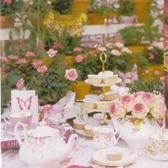 Pretty Garden Party Parties Shower Ideas Tea Table Tables