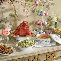 Traditional Easter Ham Dinner - This classic Easter feast invites spring flavors to the table with Orange Glazed Ham, Roasted Asparagus and more. Description from pinterest.com. I searched for this on bing.com/images
