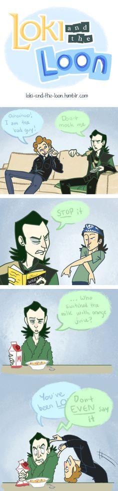 Loki and the Loon by *nooby-banana on deviantART