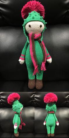 Cardo Tim flower doll made by Estrella R M - crochet pattern by Zabbez