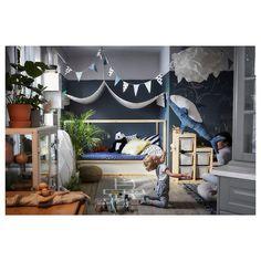 IKEA has launched the new KURA bed, and it's reversible. Cama Ikea Kura, Kura Bed, Play Corner, Sleeping A Lot, High Beds, Living In China, Ikea Family, Bed Tent, Bed Slats