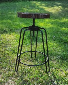 Diligent Ikayaa Industrial Style Bar Stool Adjustable Height Swivel Kitchen Dining Breakfast Chair Natural Pinewood Top Bar Stool Bar Furniture Bar Stools