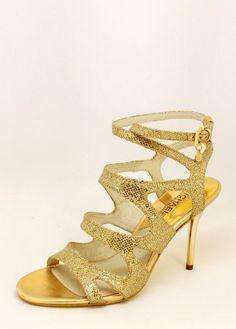 Michael Kors Yvonne Ankle Strap Glitter Heel