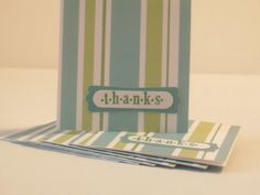 Thank You Mini Stripe Cards by NyraCards on Etsy, $2.00