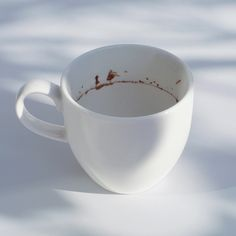 If you look closely, what looks like coffee residue is actually a scenery!