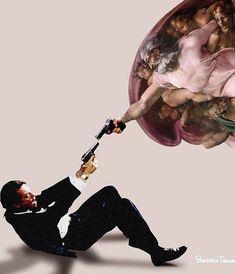 Internet as an art. Collage Artwork, Collage Artists, Memes Arte, Classical Art Memes, Arte Pop, Minimalist Poster, Digital Collage, Photo Art, Michelangelo