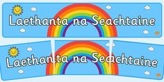 Irish Days of the Week Banner Irish, Banner, Day, Irish Language, Banners, Ireland, Picture Banner