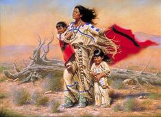 This is definitely one of the best native American painting and art illustrations you can find.It is often believed that the ancient Native Americans c Native American Children, Native American Wisdom, Native American History, Native American Indians, Plains Indians, Native American Paintings, Native American Artists, Native Indian, Native Art
