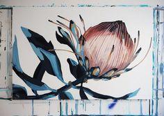 Buy online a limited edition canvas print of an original Anya Brock painting. Protea Art, Protea Flower, Canvas Prints, Art Prints, Pictures To Paint, Urban Art, Rock Art, Painting Inspiration, Abstract Art
