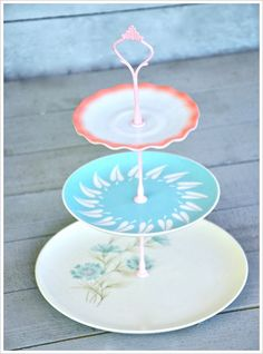 Candy Floss Retro 3 Tier Cake Stand Vintage par freshpastrystand, $142.00