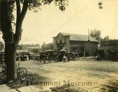 The Longmont Produce Exchange, on the west side of Main St. between 2nd and 3rd, was the first building built in the Colony and was called The Colony House or The Rest. B. I. Barnes owned and operated the Produce Exchange. Exact Date1905-1915 Place; Main St., 200 block Longmont, Colorado