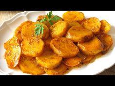 Verás qué fácil es preparar estas patatas en adobillo tan típicas de Andalucía. Están deliciosas y se preparan en un momento Kitchen Recipes, Cooking Recipes, Sweet Potato, Curry, Dishes, Chicken, Vegetables, Ethnic Recipes, Food