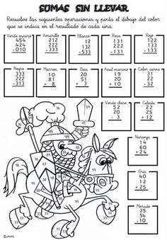 Elementary School worksheets Addition fun to learn Spanish for kids 19 Printable Activities For Kids, Math Activities, Primary Maths Games, Math Helper, Learning Spanish For Kids, Learn Spanish, Math Pages, Go Math, School Worksheets