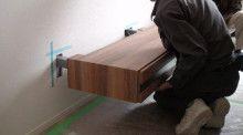 薄型フロート式TVボード(間接照明付)取付模様(*後付):リメイクしました | 家具 オーダーメイド |TVボードを全国へ|設計ノウハウ配信