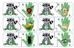 kissing hand Beginning sound match free to print from TEaching HEart