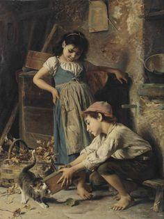 Luigi Bechi (Firenze 1830-1919) | Playtime | XIX secolo, Dipinti | Christie's