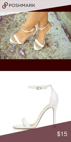 white stilleto, US size 7.5 Item is preowned but in excellent codition. No defects Liliana Shoes Heels