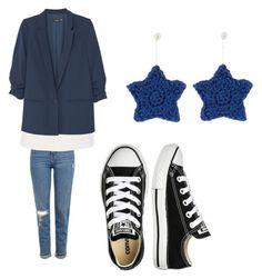 """""""Navy stars"""" by brittany-wilkewitz on Polyvore featuring Lucy Folk, Topshop, Ted Baker, MANGO and Converse"""