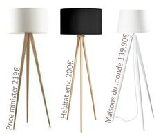 diy fabriquer un lampadaire tr pied luminaires lampadaires pinterest lampadaire. Black Bedroom Furniture Sets. Home Design Ideas