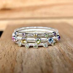 Springtime ring set by AnnabelleJewellery on Etsy https://www.etsy.com/uk/listing/588404548/springtime-ring-set