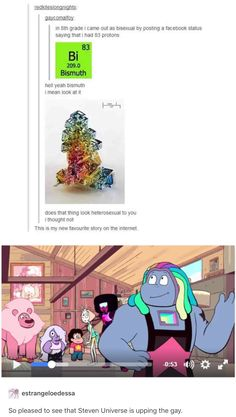 "No, but when Bismuth was revealed, that tumblr post was my second thought. (My first was ""HOLY S#!T NEW GEM YAY!!!"" XD)"