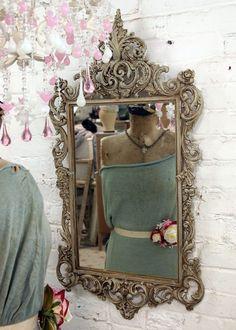 #ornate #mirror #pink #chandelier