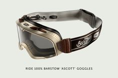 Ride 100 Percent Barstow Ascott motorcycle goggles.