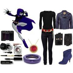 casual Raven teen titans