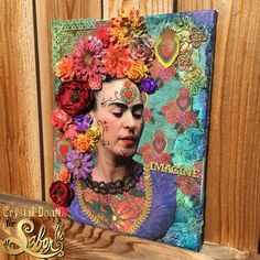 Frida Kahlo Mixedd Media Canvas DIY