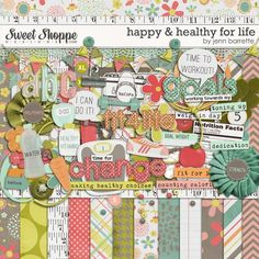 New in Heritage Makers' Studio now! Happy and Healthy for Life from Sweet Shoppe Designs.