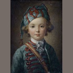 Circle of Antoine Pesne (Paris 1683-1757 Berlin) Study of a young boy, half-length, in military uniform