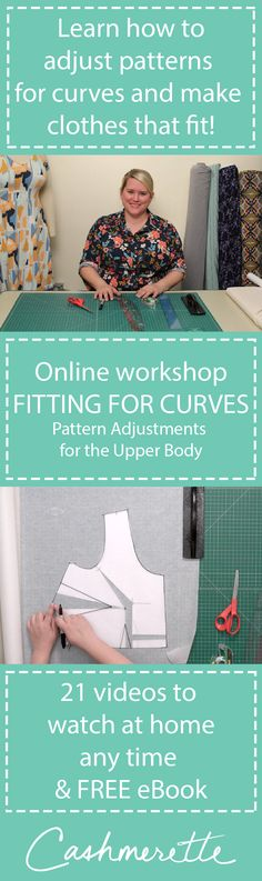 """Fitting for Curves: Pattern Adjustments for the Upper Body"" is a new online workshop from Cashmerette, which teaches you how to make your clothes fit!"
