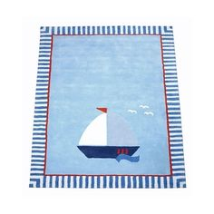Image result for rug with a sailboat