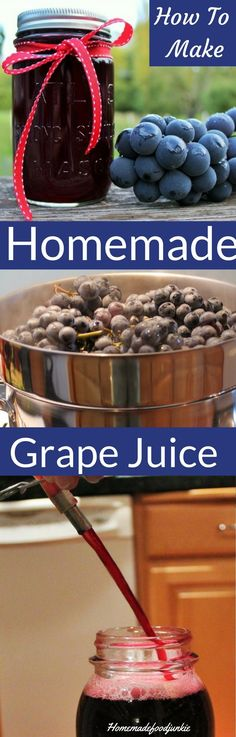 Easiest and best way to make pasteurized grape juice. Links to U.S.D.A. canning guide for waterbathing canning the juice. This is a blog hop. Come see all the preserving the harvest posts!